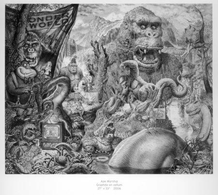 Ape Worship – crayon préparatoire