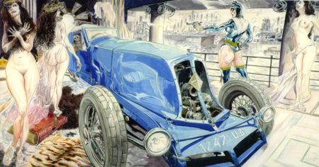 voitures et petites pépées
