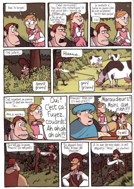 la vache et le chevalier