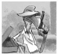 Turpin et son pistolet