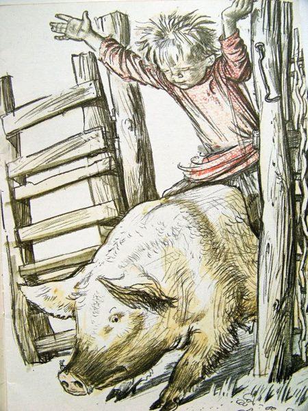 la course au cochon