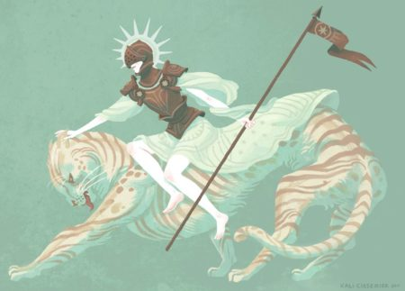 Ste Tugudu et son tigre