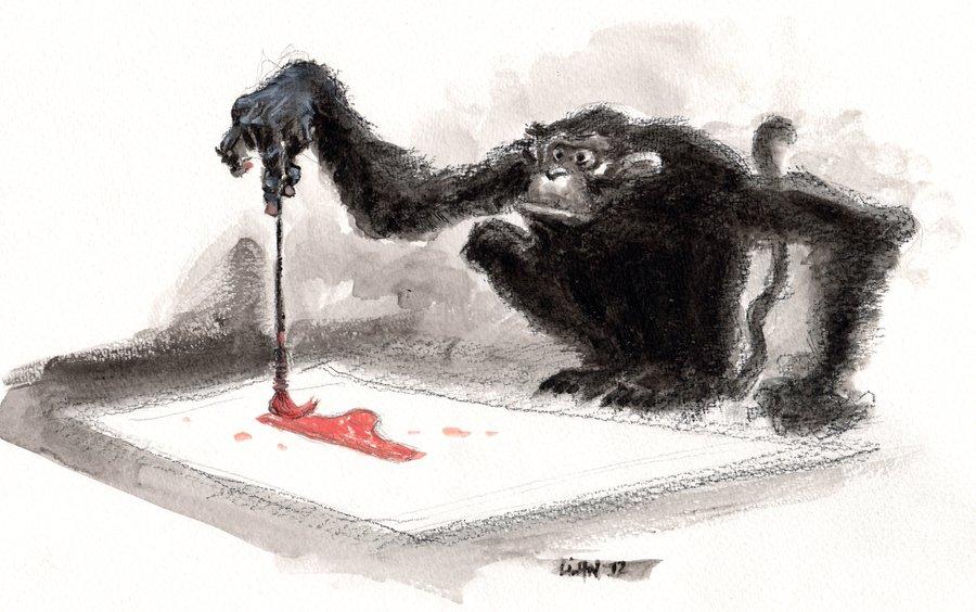 le singe et la petite culotte