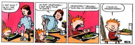 une version colorisée d'un vrai gag de Calvin & Hobbes