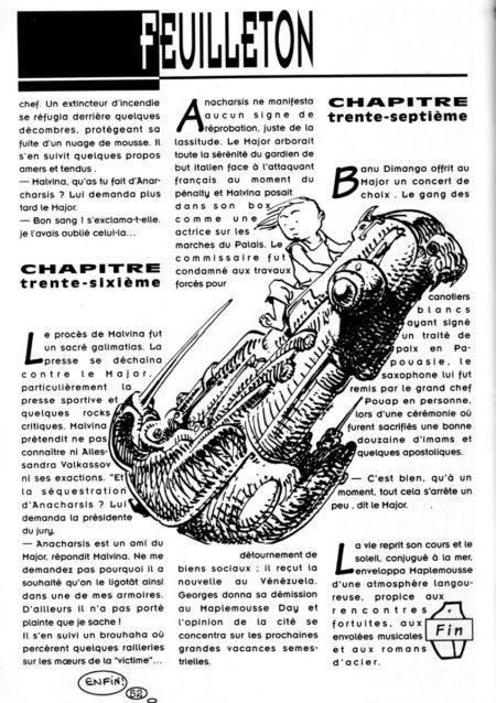 illustration pour un des feuilletons