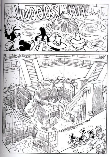 Mickey vide la piscine