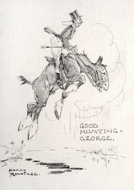 n.d. Sketch _Good Hunting George_ pencil on paper laid on board 11.4 x 8.9 cm
