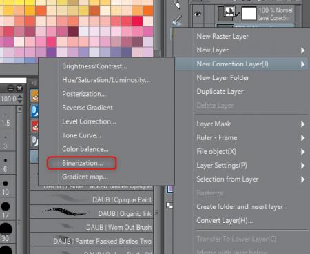 clip-studio-paint-dessin-trait-binarization