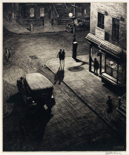 Martin-Lewis-Relics-Speakeasy-Corner-drypoint-1928