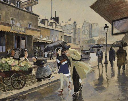 0085_Ricard-Opisso-Sala_Calle-de-Paris_gouache-y-lapiz-sobre-papel_44×56-opisso