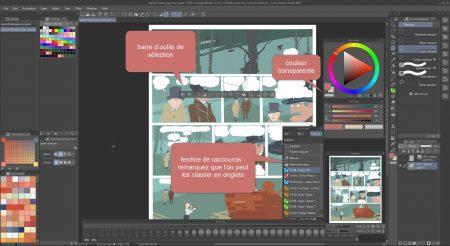 clip studio interface