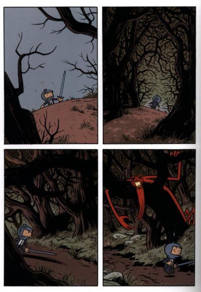le cyclope rouge dans la forêt